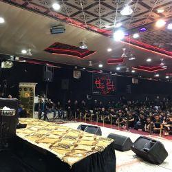 ممثل مكتب سماحة المرجع الكبير السيد الحكيم (مد ظله) يلقي كلمة في المجلس الحسيني المقام بحسينية المحسن في حي ميسان بمدينة الكوفة