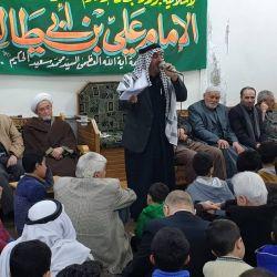 المؤمنون يحيون ذكرى ولادة أمير المؤمنين (عليه السلام) في مكتب سماحة المرجع الديني الكبير السيد محمد سعيد الحكيم (مدّ ظله) في منطقة السيدة زينب (عليها السلام) في سوريا