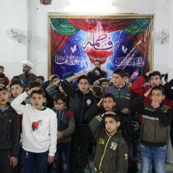 بمناسبة ولادة الزهراء (عليها السلام)، قسم رعاية الأيتام في مكتب سماحة المرجع الديني الكبير السيد الحكيم (مد ظله) في سوريا، يقيم احتفالا بمشاركة الأيتام وأبناء المفقودين