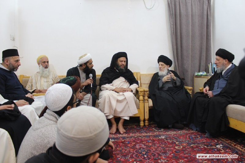 Grand Ayatollah Sayyid Al-Hakeem receives a Sufi group from the UK