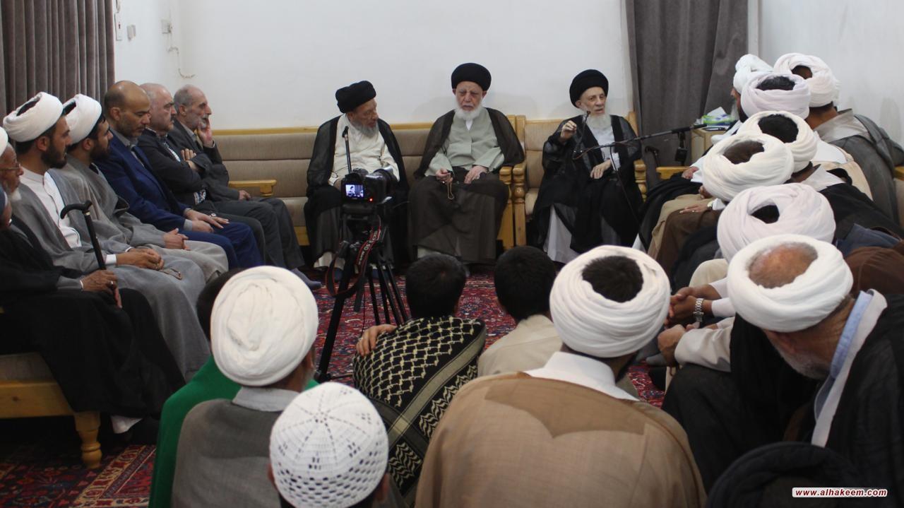 دیدار ایت الله العظمی حکیم (مدظله) با ائمه جماعت مساجد شهر مقدس مشهد