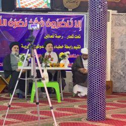 ممثل المرجع الديني الكبير السيد الحكيم (مد ظله) يلتقي جمع من طلبة العلم وخطباء المنبر الحسيني واصحاب المواكب الحسينية في بغداد، وينقل سلام ودعاء المرجعية الدينية وتوجيهاتها السديدة