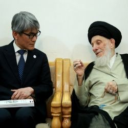 His Eminence, Grand Ayatollah al-Hakeem, receives the Japanese Ambassador to Iraq and Clarifies the Importance of Entrenching the Correct Religious Understandings in Societies.