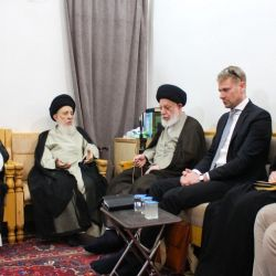 His Eminence, Grand Ayatollah al-Hakeem, receives the Swedish Ambassador to the OIC and Calls the International Community to Block the Sources of Terrorism and Extremism