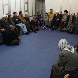 استقبال حجت الاسلام و المسلمین سید عزالدین حکیم از هیئت مسجد مالک اشتر بغداد